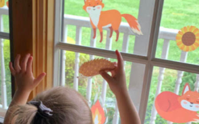 Fall Fun Window Cling-Ons: A Toddler Fine Motor Activity