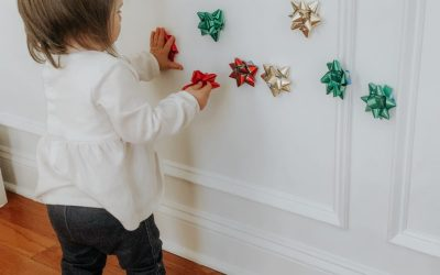 Christmas Bow Wall Stick Activity