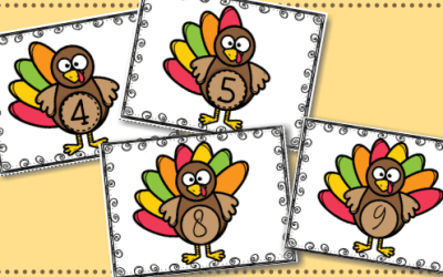 Turkey Counting Feathers Activity Free Printable
