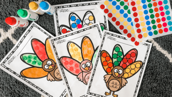 Turkey Color Matching Free Printable
