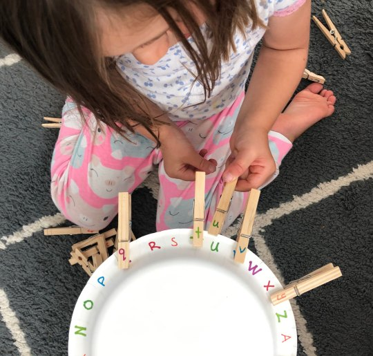 Need help teaching your preschooler letters? Here are some tips to help your preschooler learn letters & letter sounds with different sensory activities and modalities, games, movement, songs, and more. If your 2, 3, or 4 year old is having trouble with their letters, you'll definitely be able to help them with these activities.