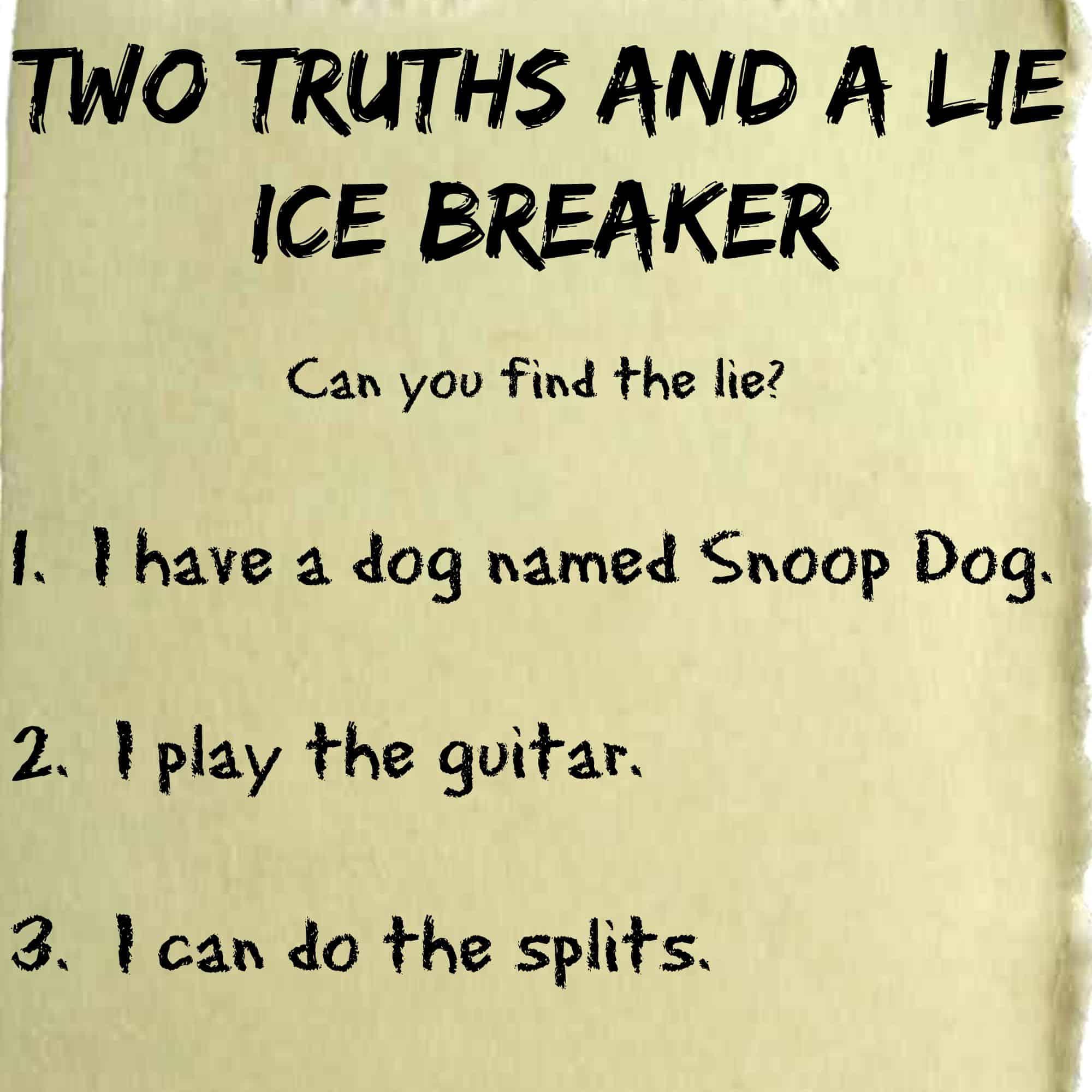 Ice Breakers Get Students Talking