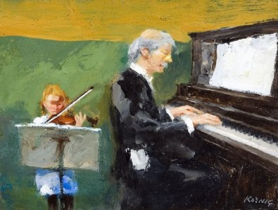 The Music Lesson by Koenig, John (1927-) - Dowling-Walsh Gallery (Rockland, Maine)