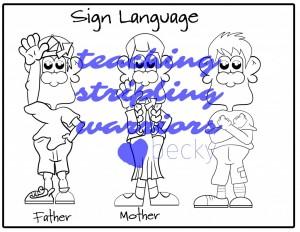sign lanuage bw wm