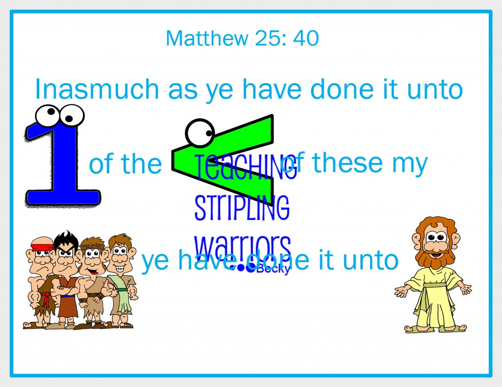 Lesson 27 Parable Of The Sheep And The Goats