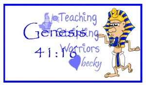 What Did Joseph Tell Pharaoh About His Ability To Interpret Dreams Have A Child Read Genesis 4116