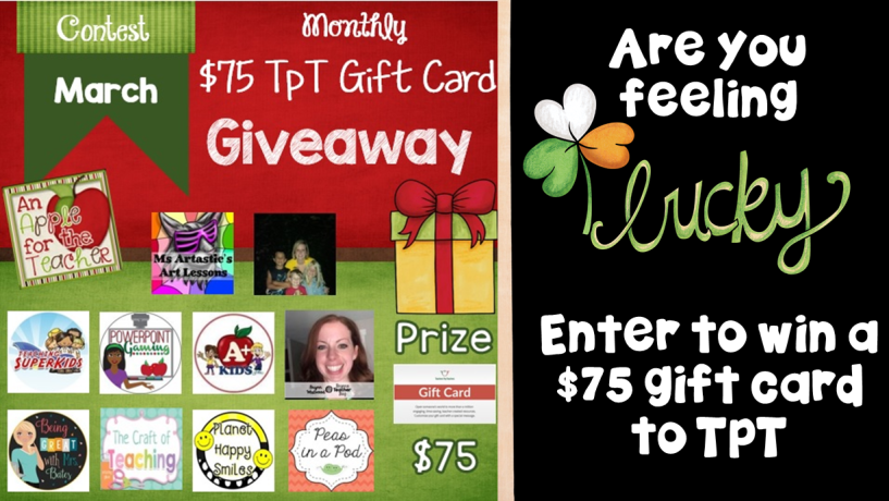 March An Apple for the Teacher Monthly Giveaway. Enter to win today.