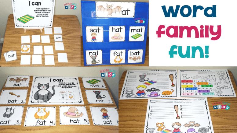 Teaching Word Families in Kindergarten
