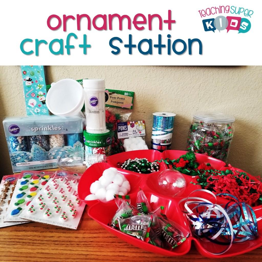 Ornament Craft Station
