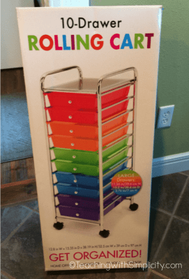 10 Drawer Rolling Cart