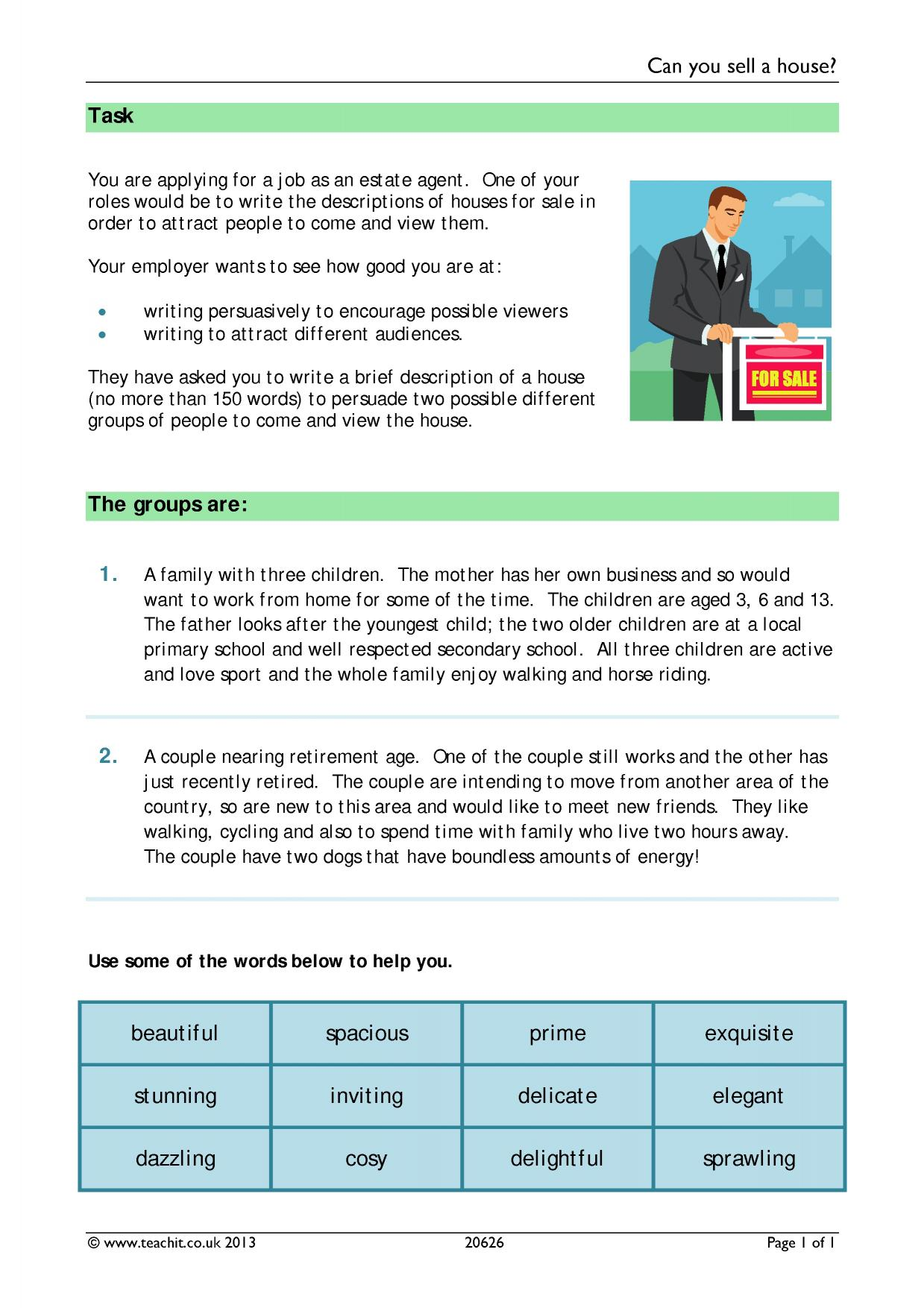 Key Stage 2 Formal Letter Writing