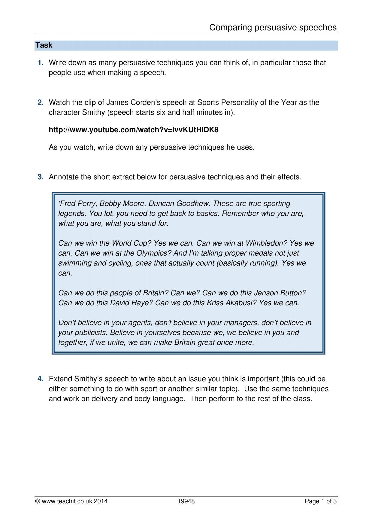Year 3 English Writing Worksheet