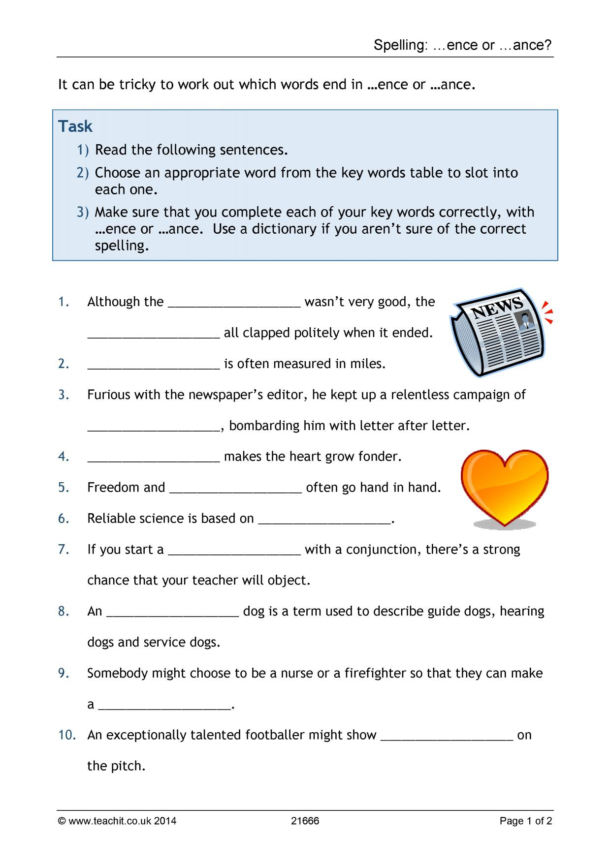 Printables Of Key Stage 3 Grammar Worksheets