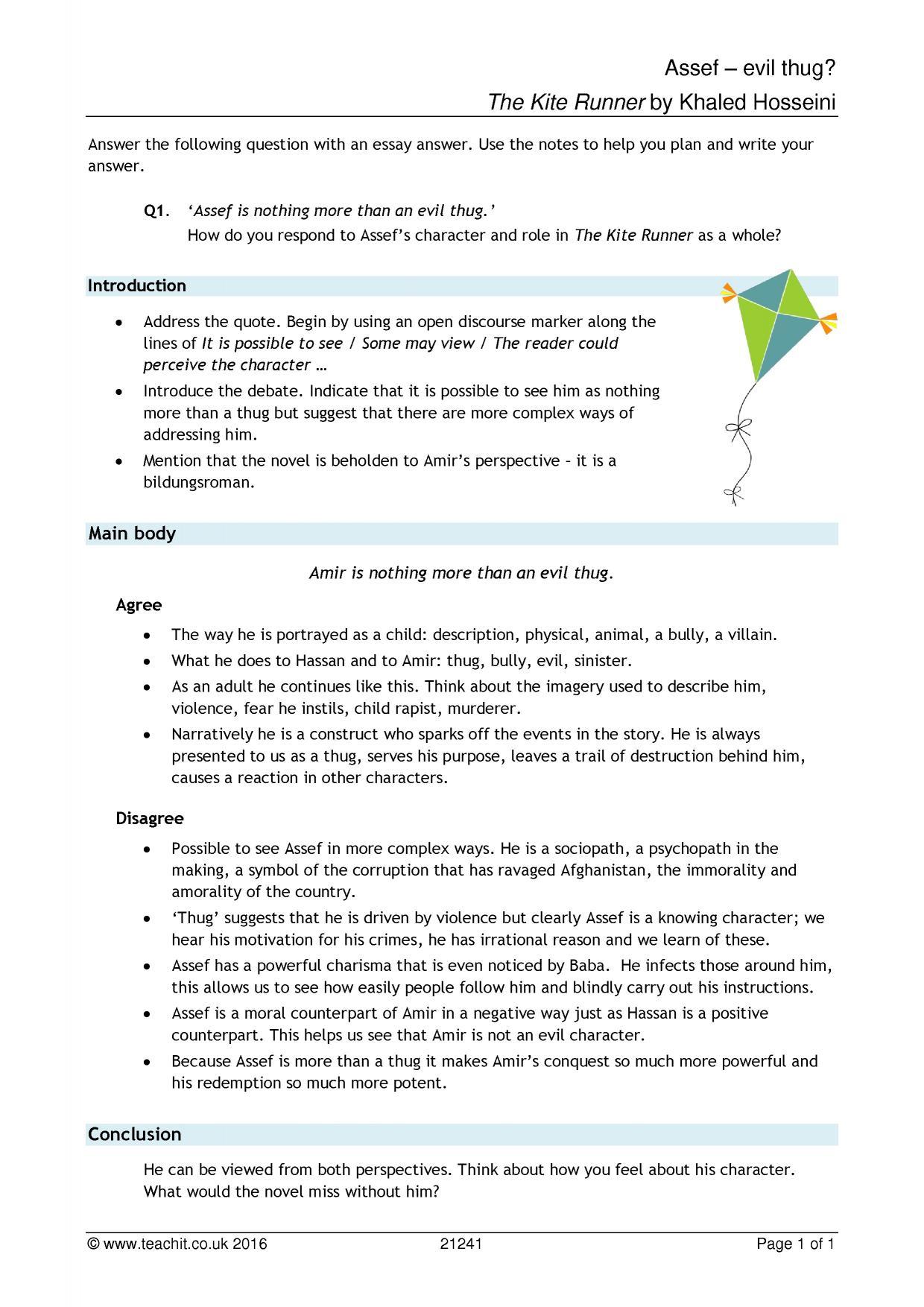 Kite Runner Essay