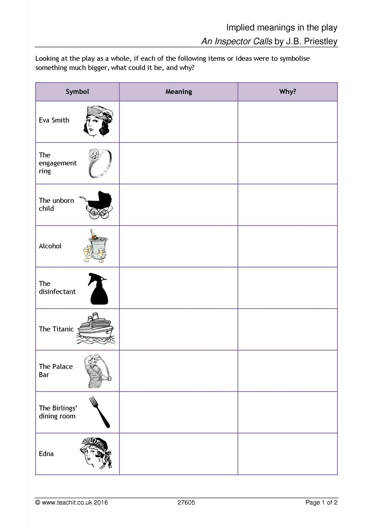 Identifying Characters Worksheet Kindergarten