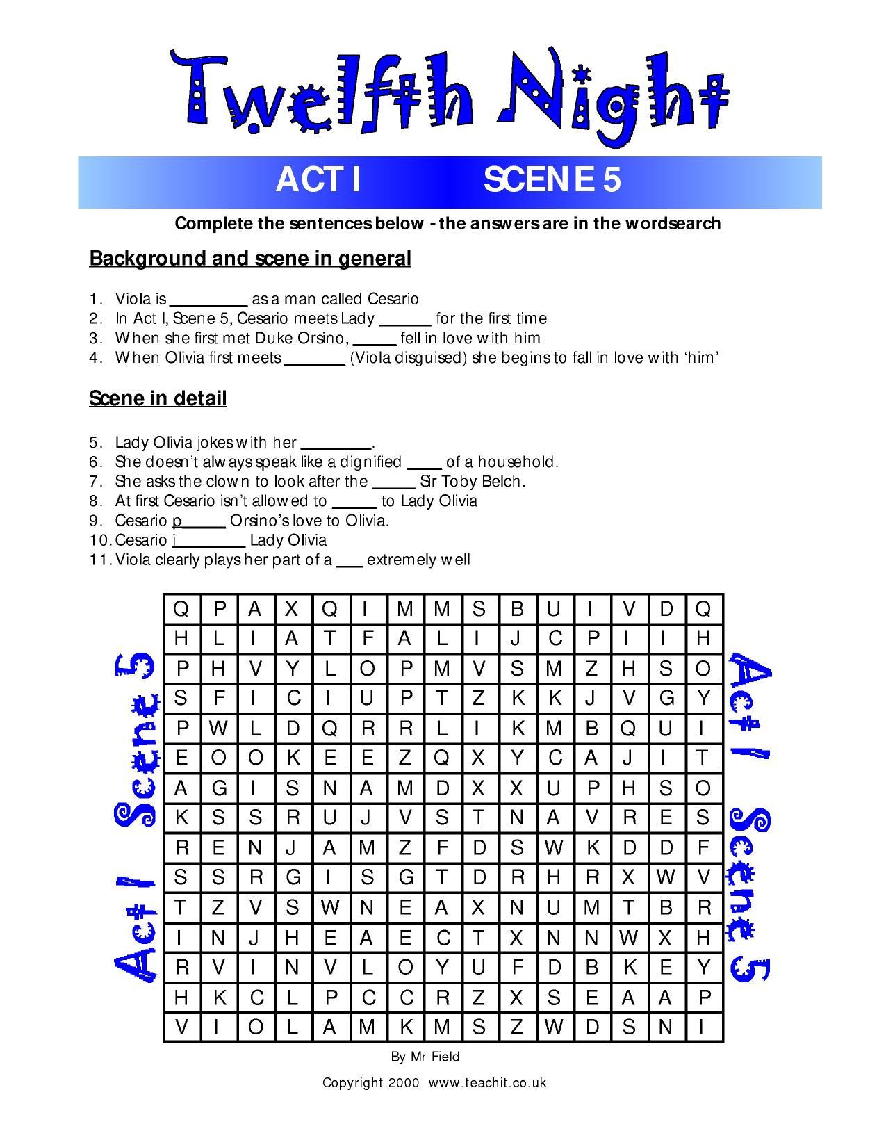 Fun Quiz And Wordsearch Activities