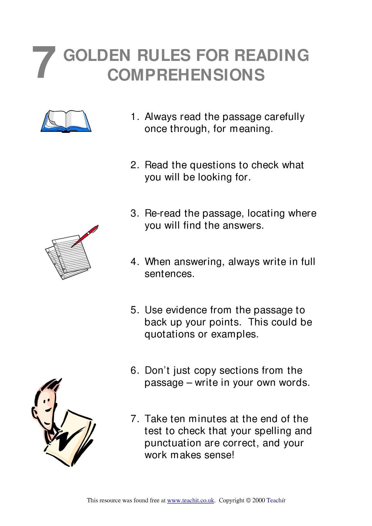 Year 2 English Comprehension Worksheet Uk