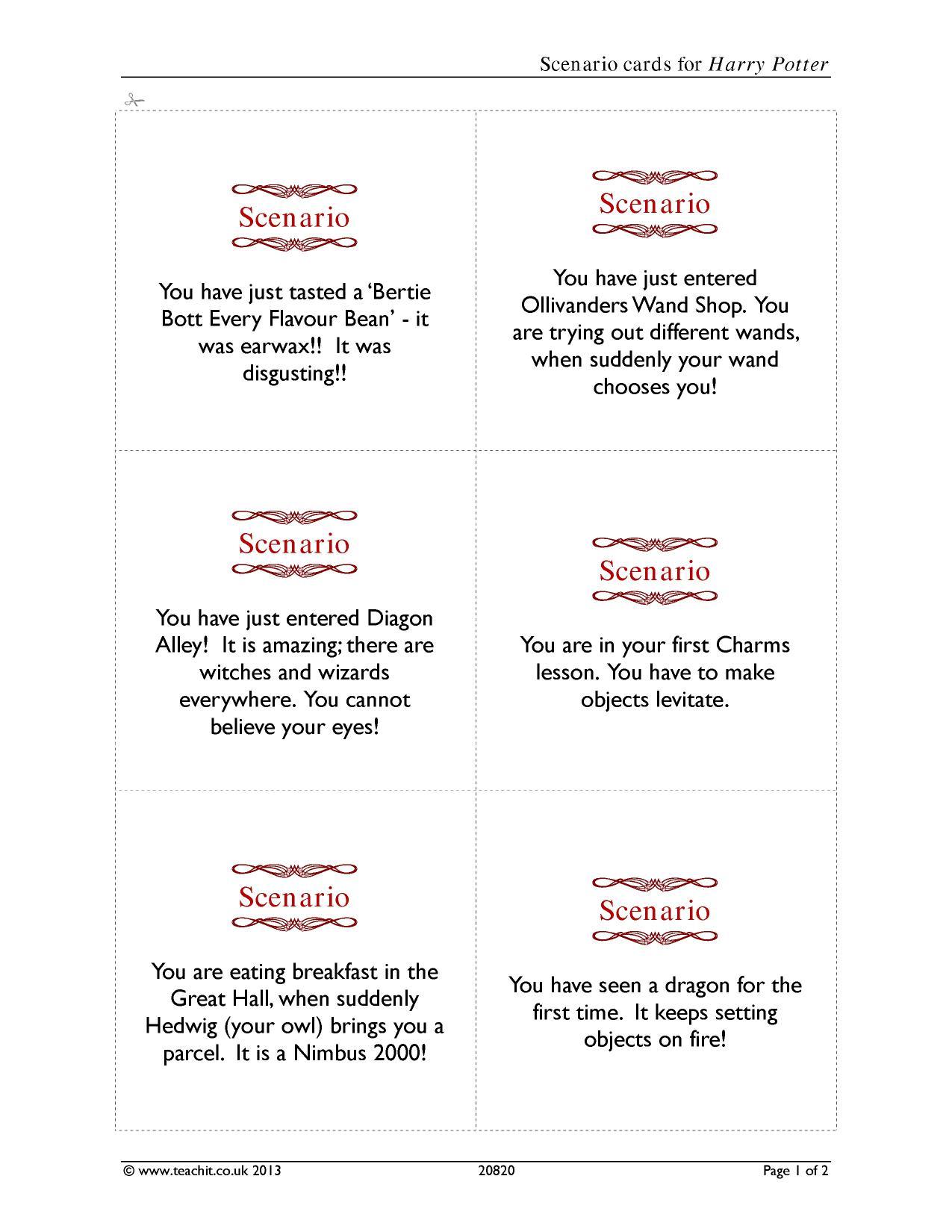 Drama Terms Worksheet