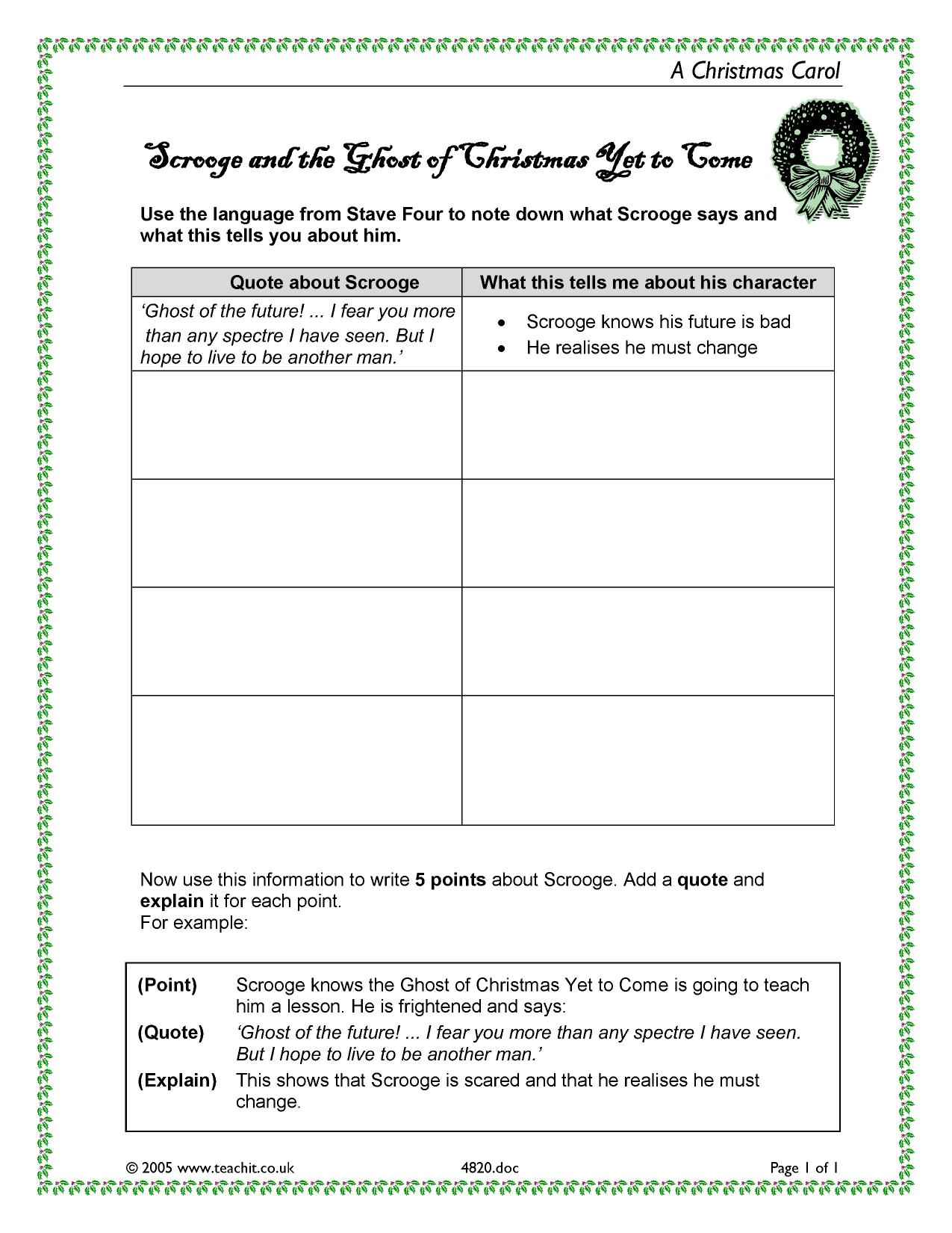 Christmas Worksheet Grade 5
