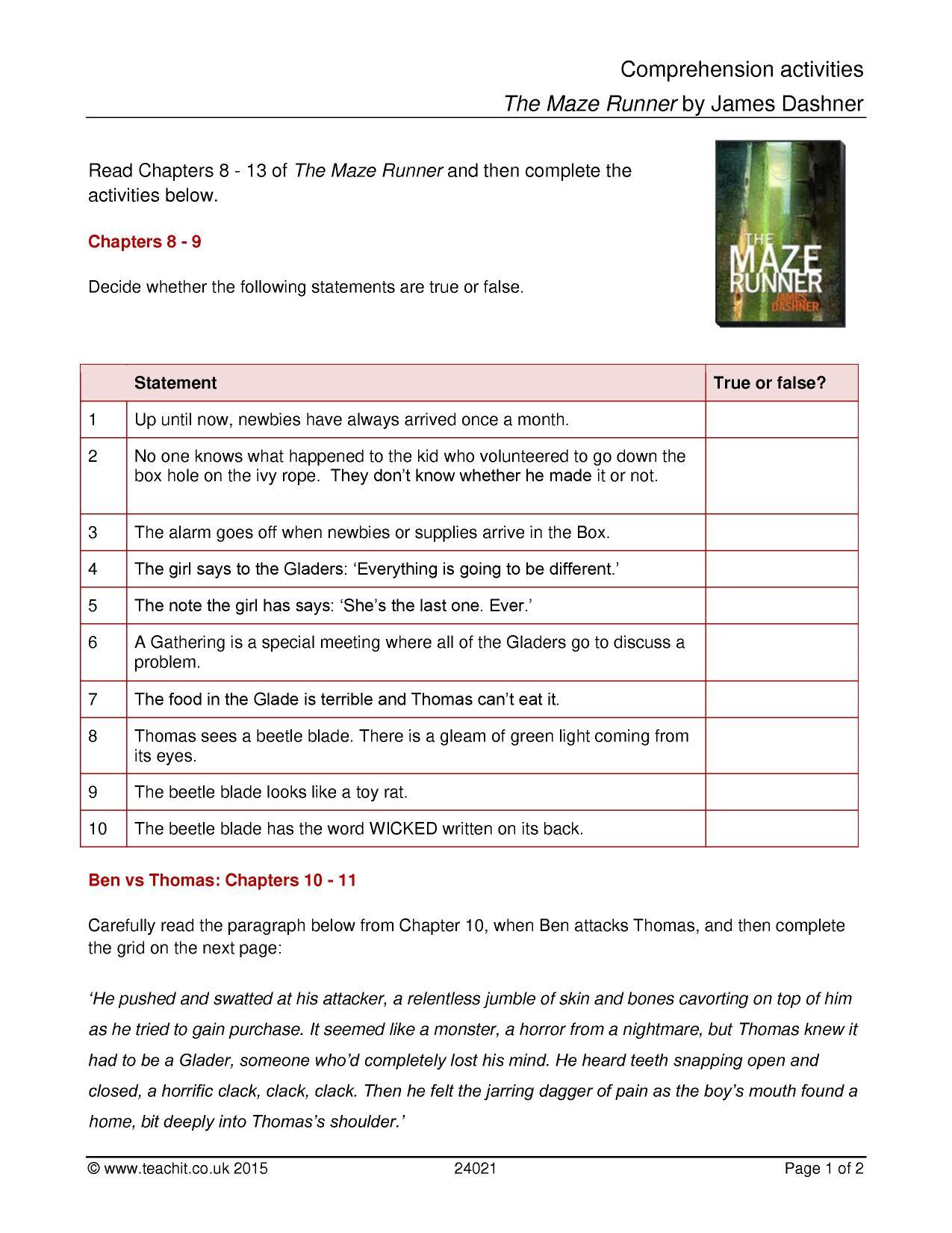 - Ks3 English Worksheet Comprehension Printable Worksheets And
