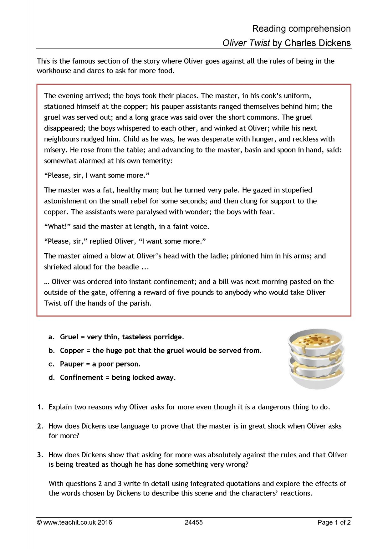 12 Reading Comprehension Year 5 English Worksheets