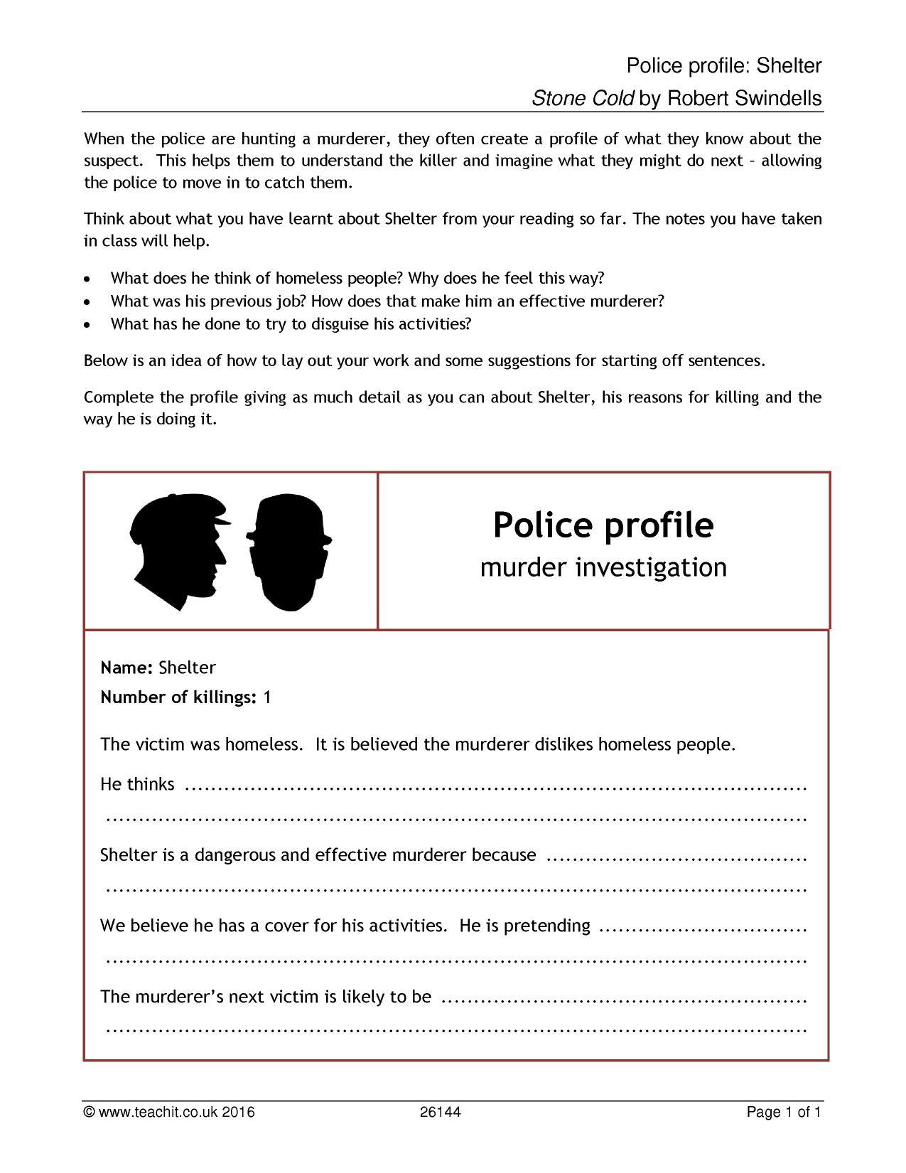 Police Profile Shelter