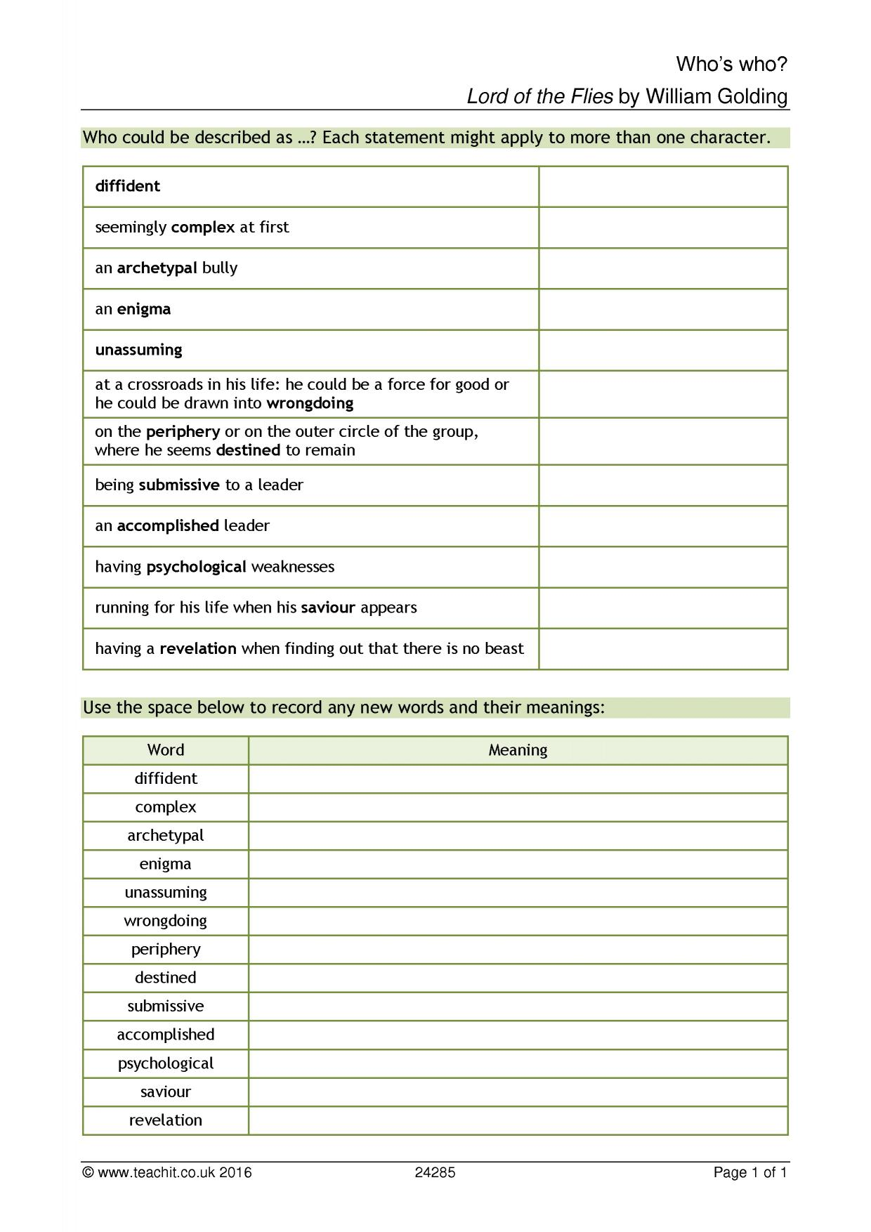 Environmental Enigma Worksheet Answers