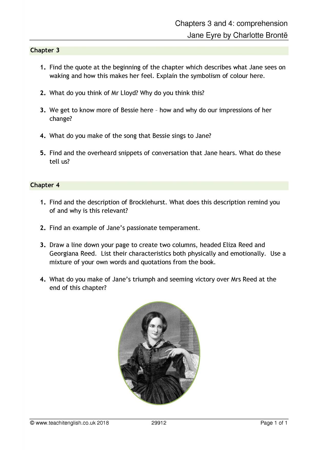 Jane Eyre Chapter Summaries