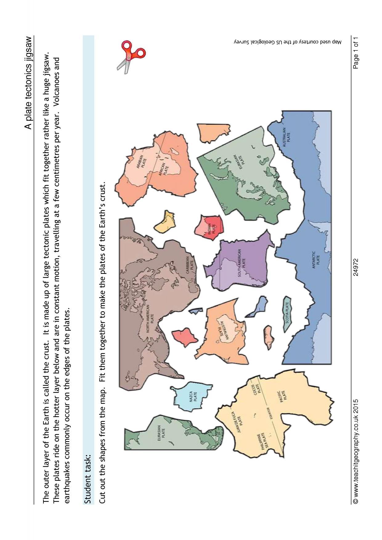 Tectonic Plates Worksheet Cookie