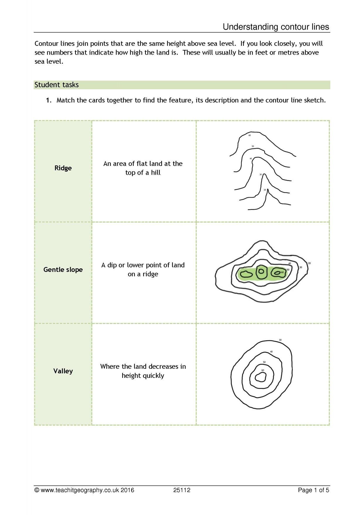 Map Skills Worksheet