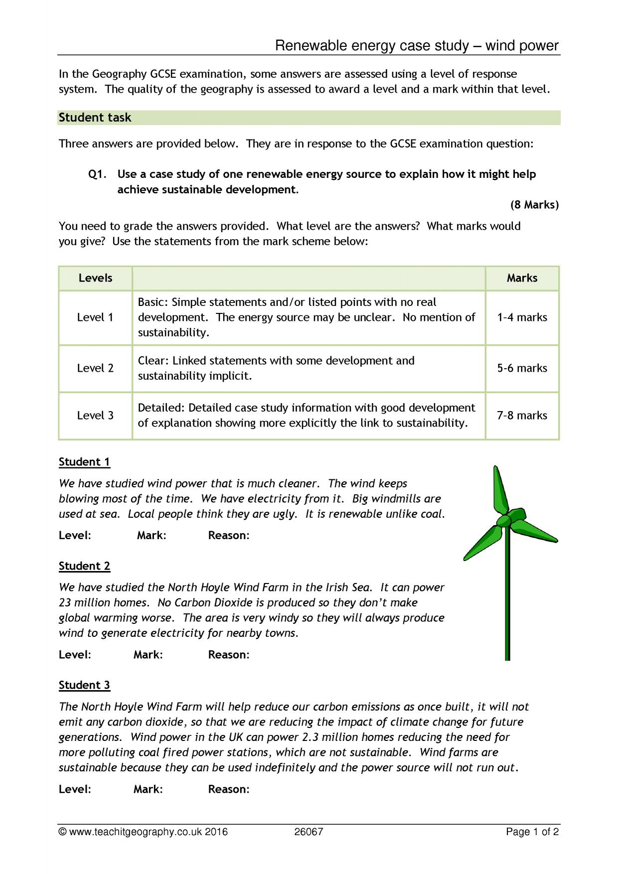 Renewable Energy Case Study Wind Power