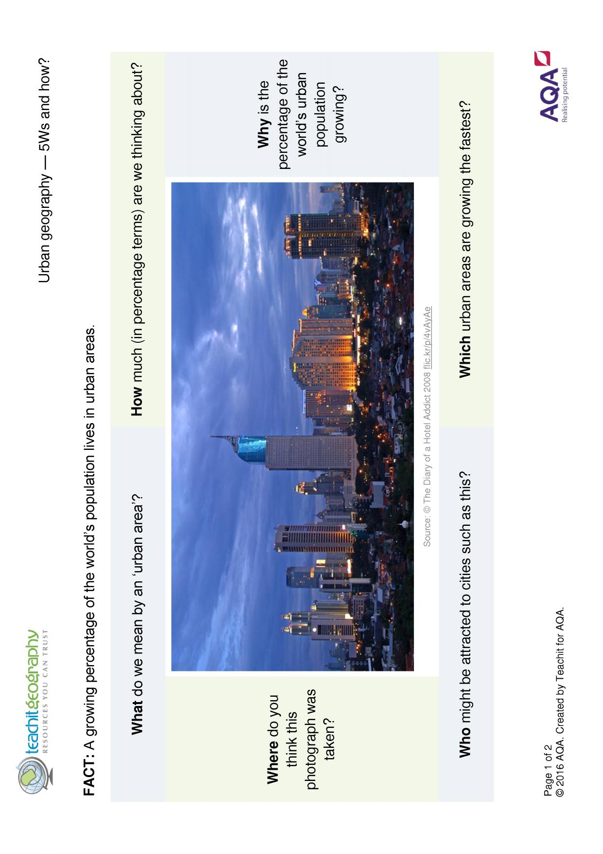 Aqa Urban Geography Gsce Teaching Resources