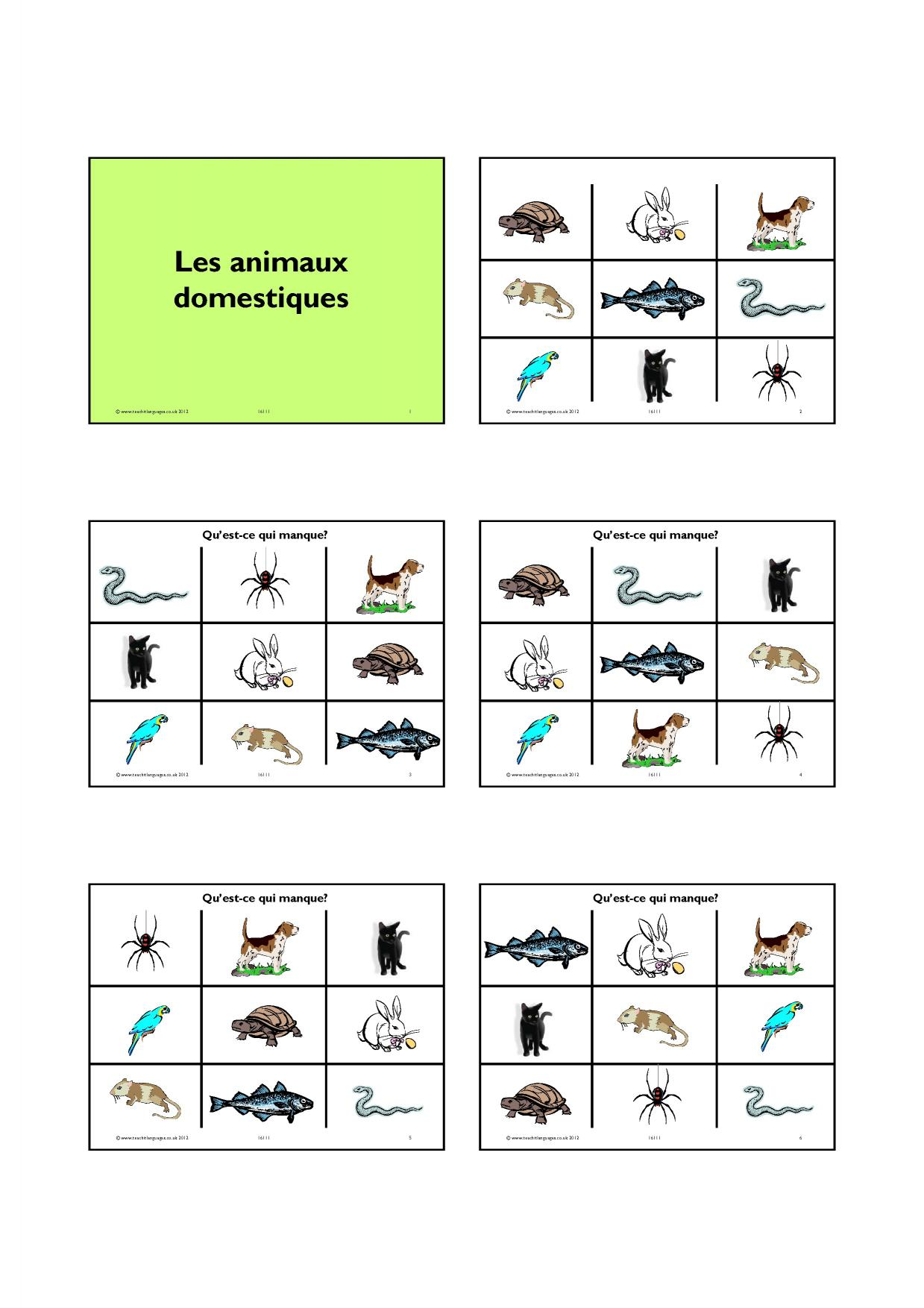 French Pronunciation Worksheet