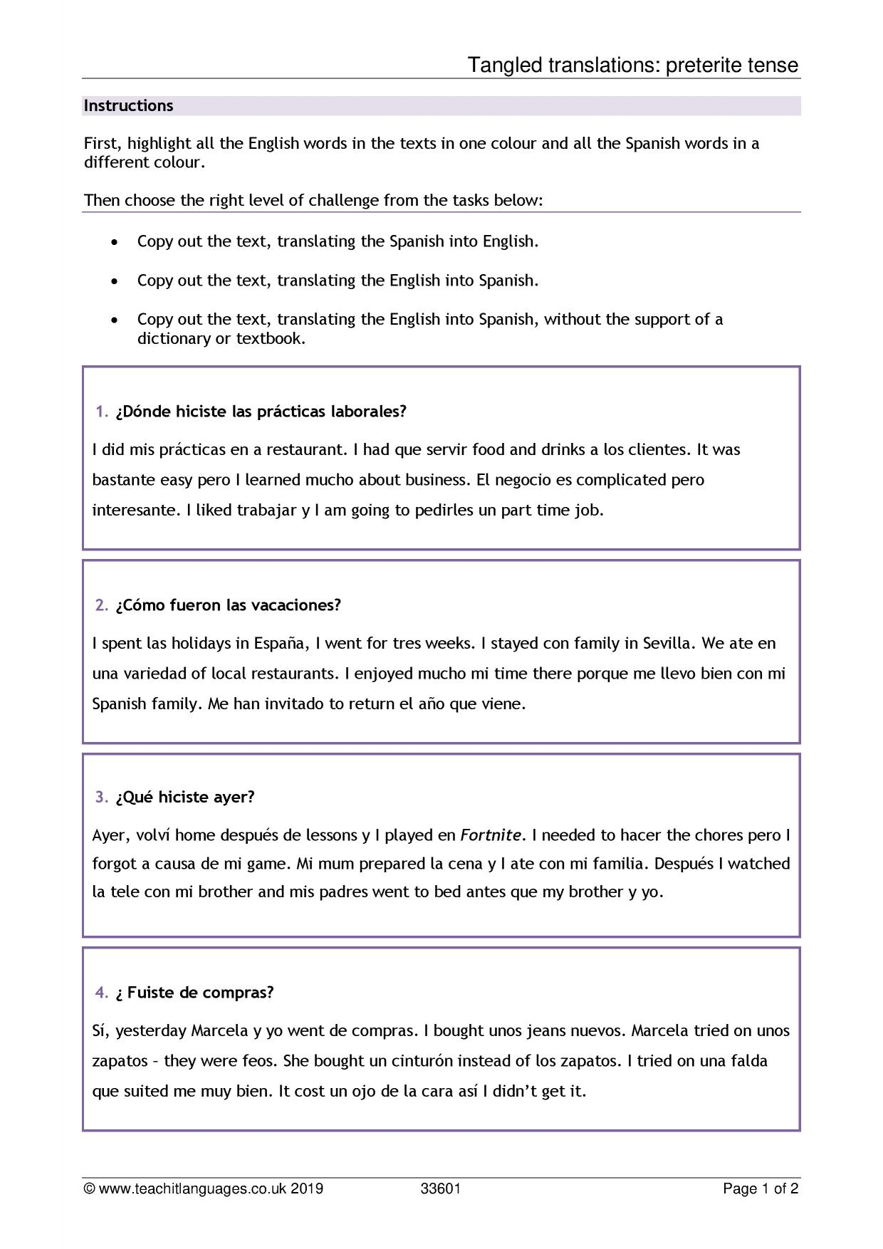 Download Book A Comparative Vocabulary Guide Spanish To