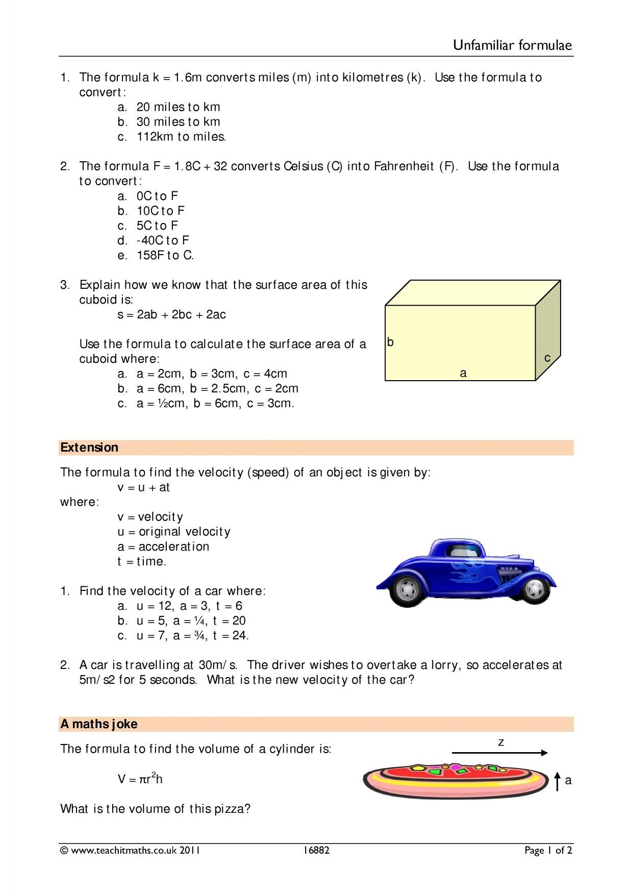 Formulae And Substitution