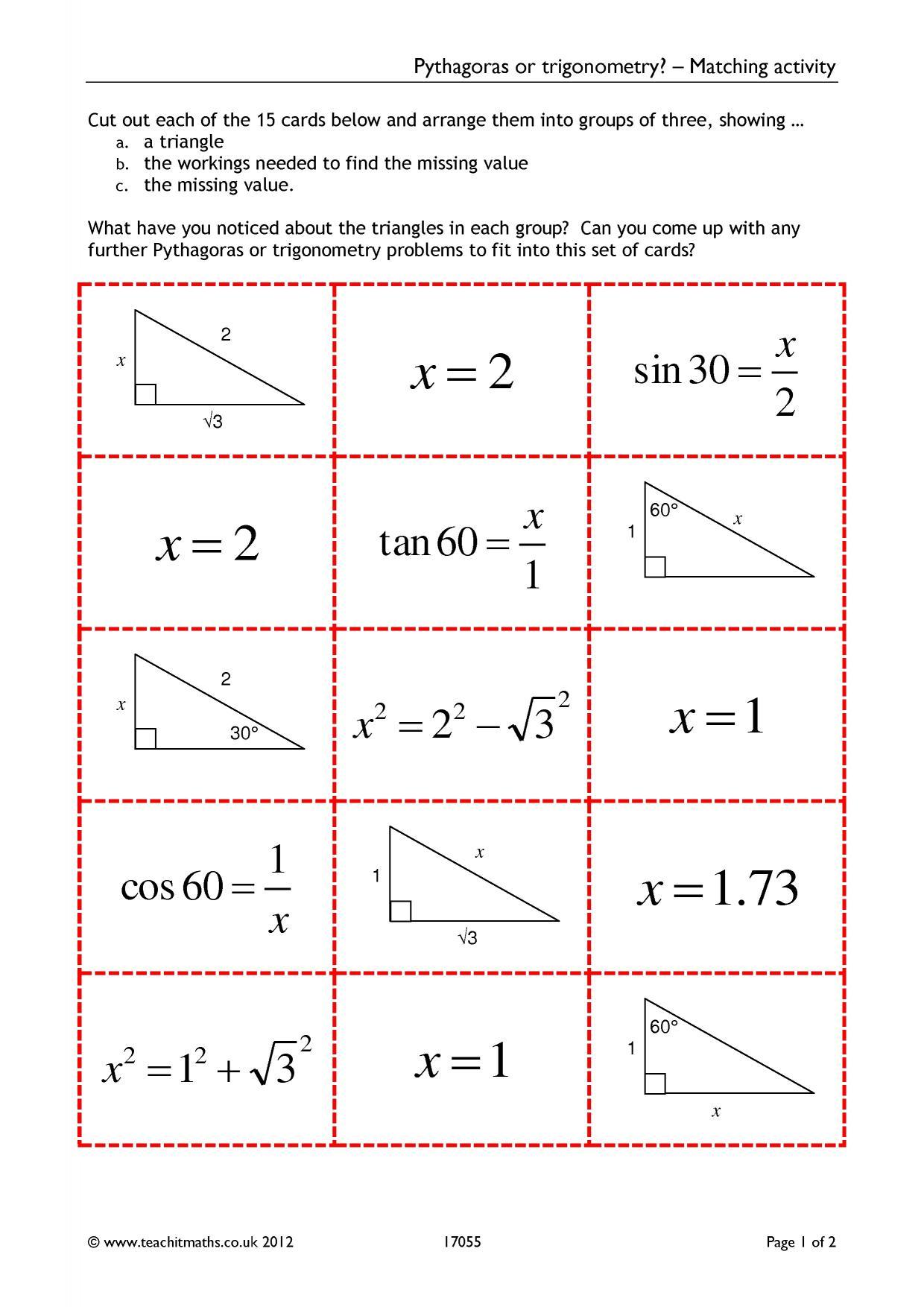 Pythagoras Or Trigonometry