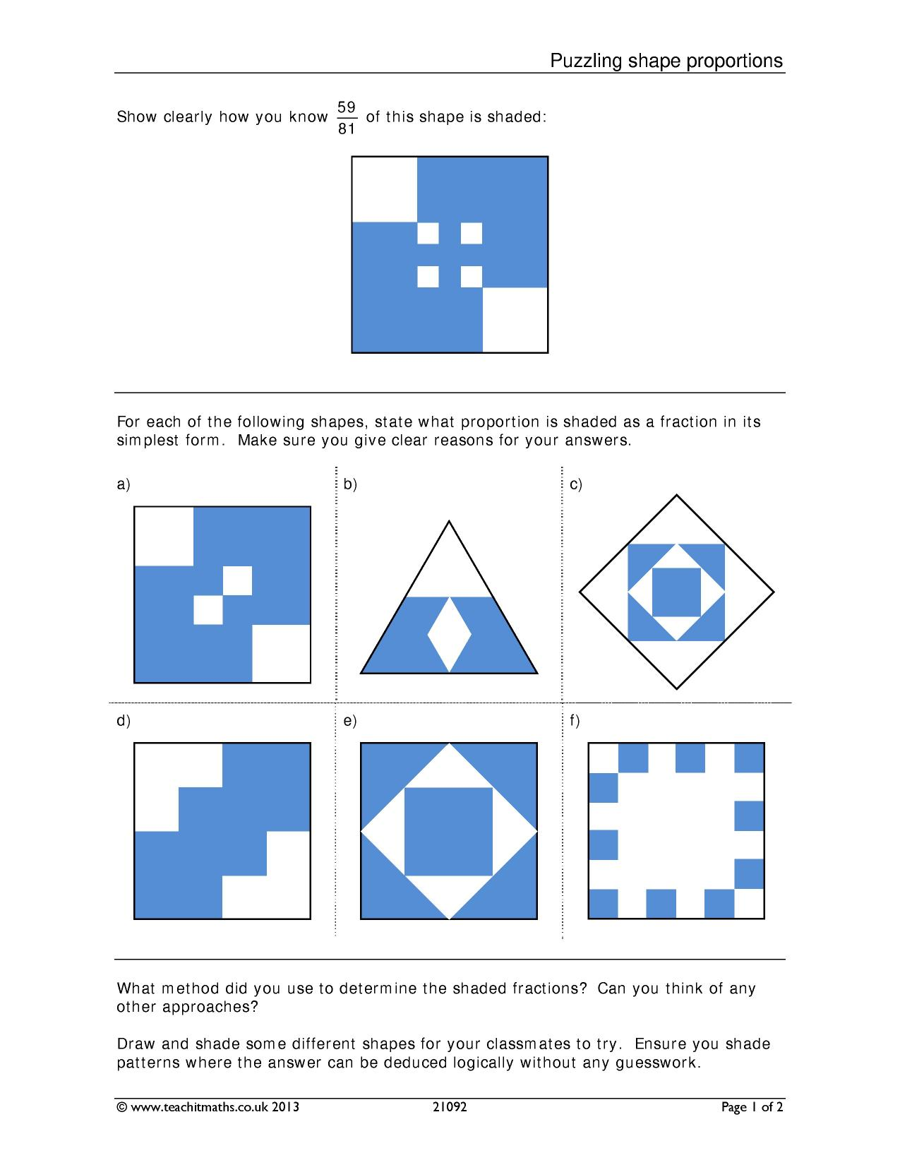 Puzzling Shape Proportions