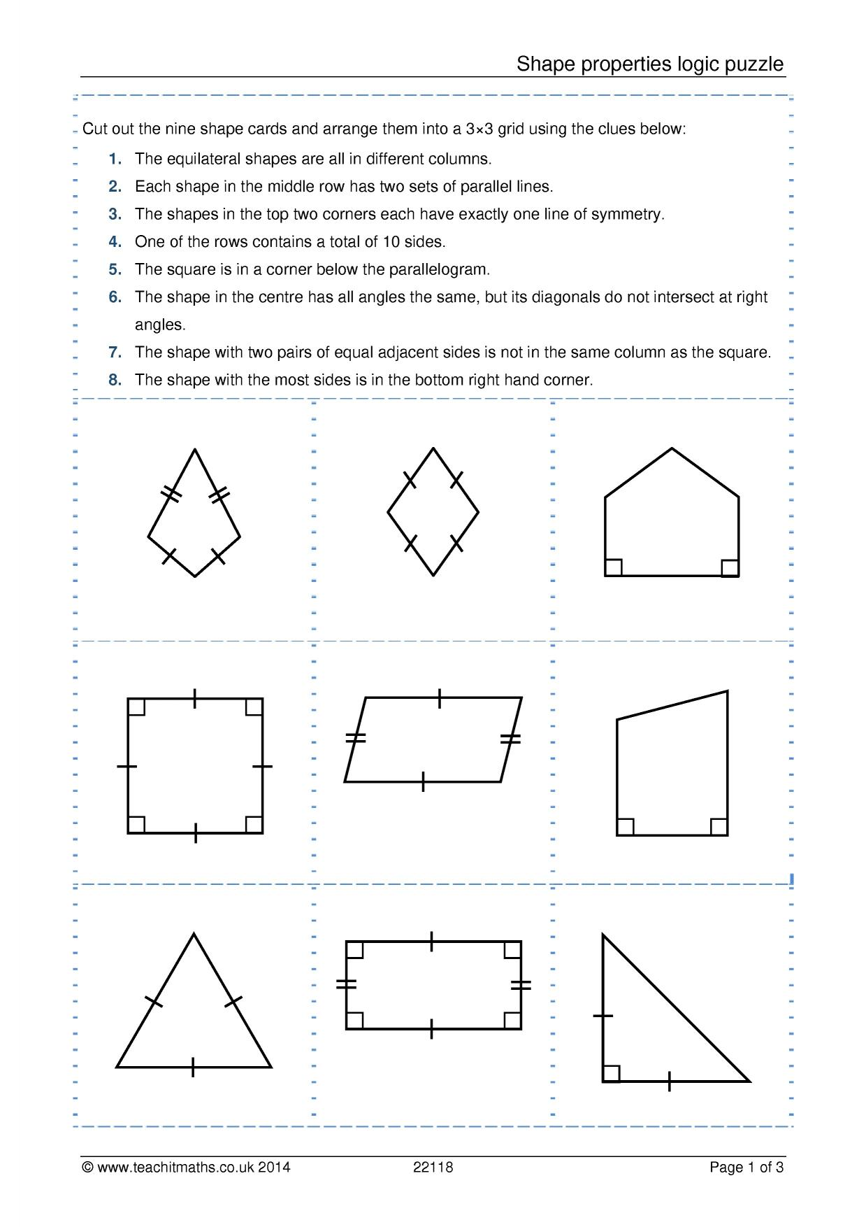 Quadrilaterals Worksheet Grade 8