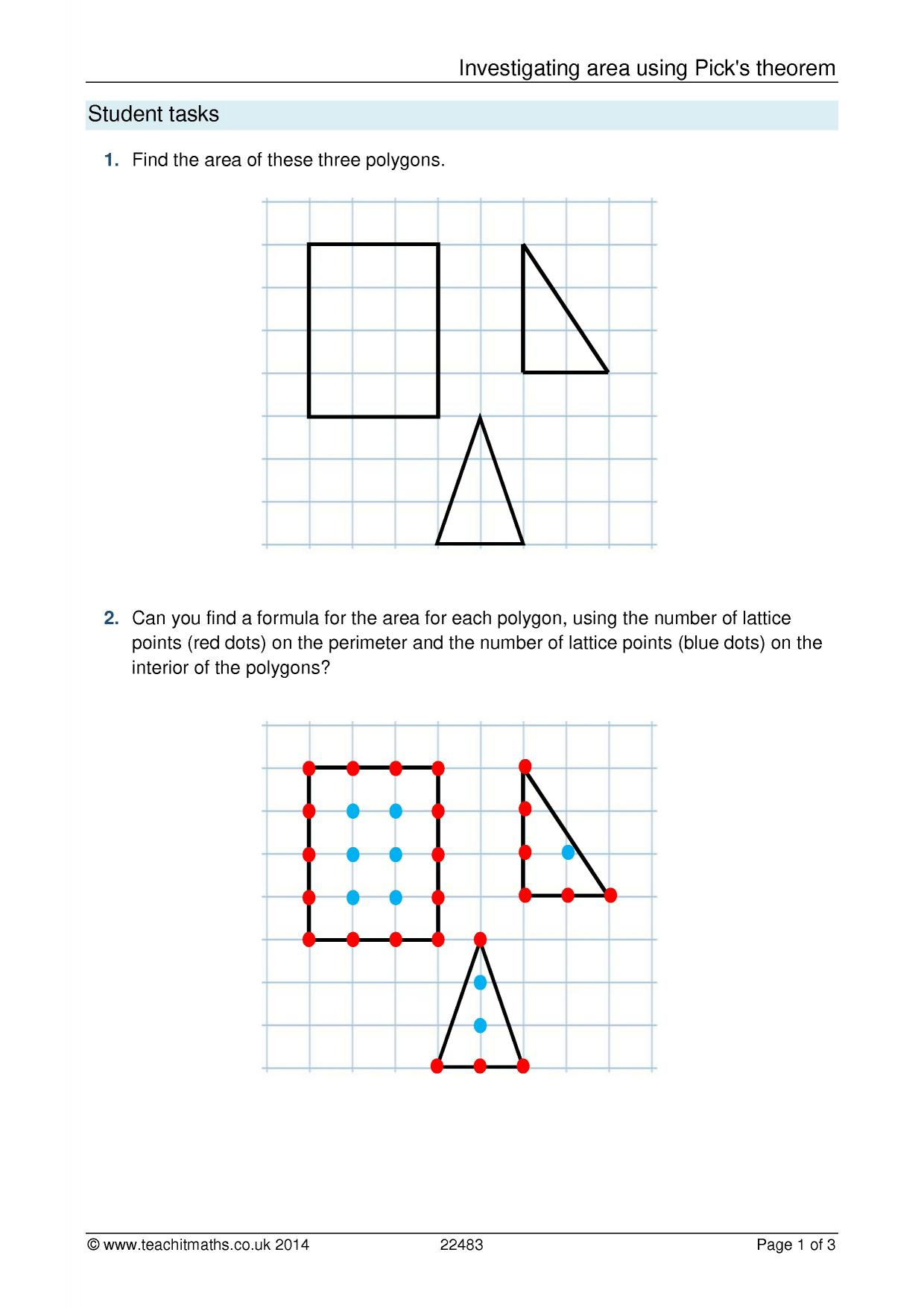Worksheet Works Answers Calculating Area And Perimeter