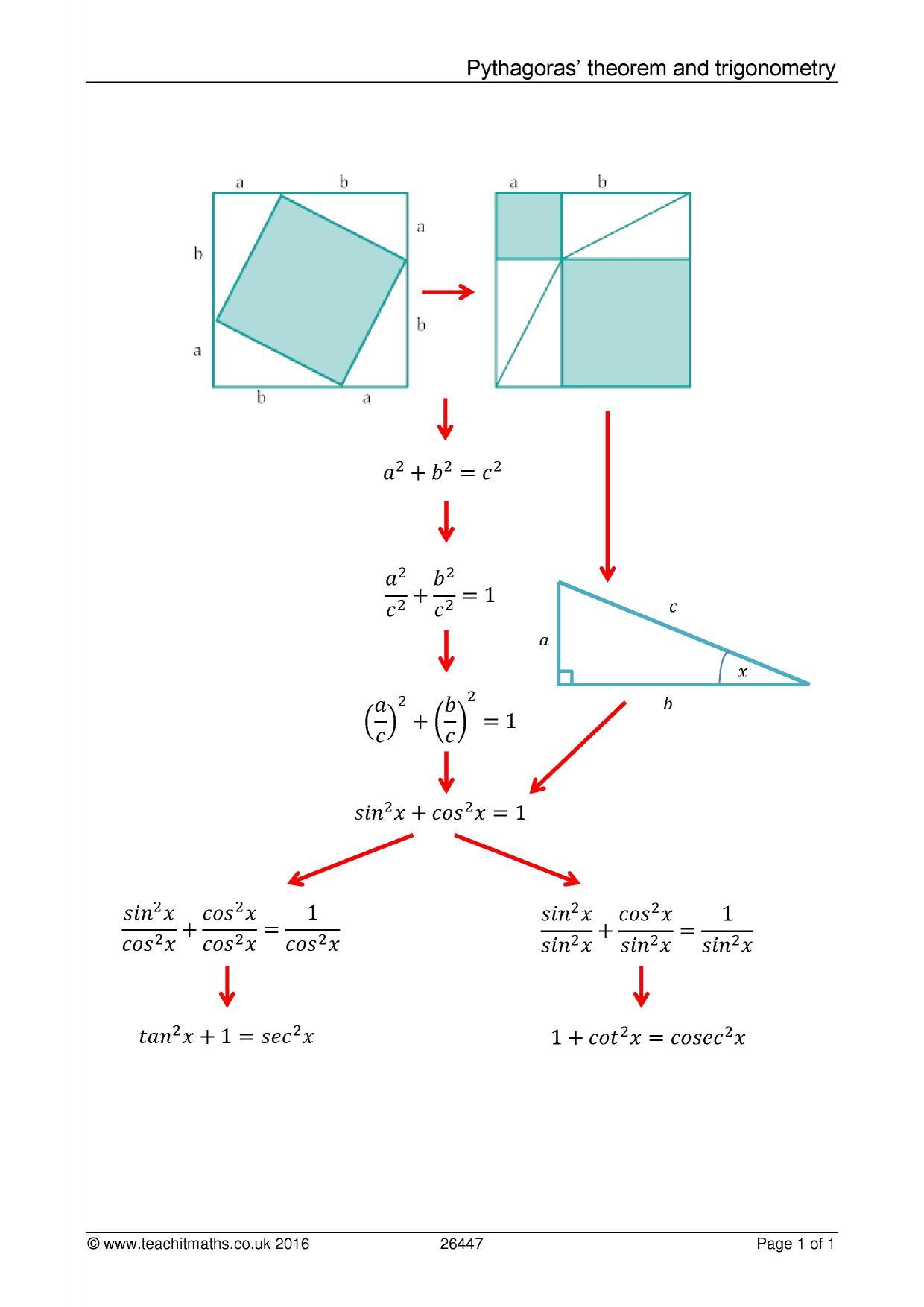 Pythagoras Theorem And Trigonometry