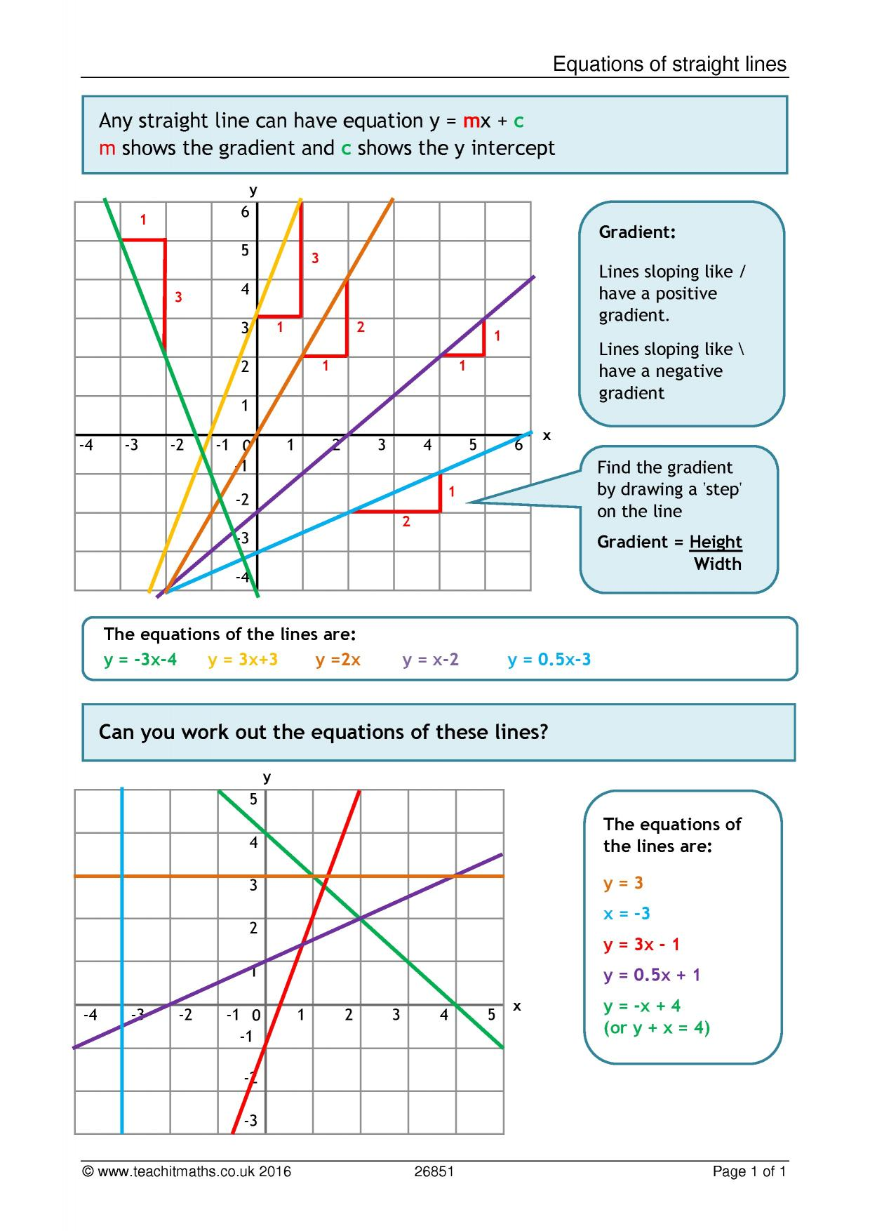 Graphing Worksheet Straight Lines