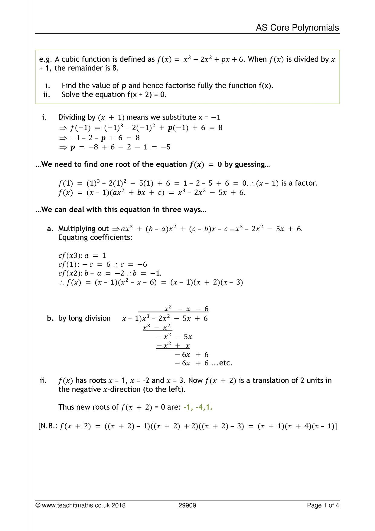 Classifying Polynomials Worksheet Algebra Advanced