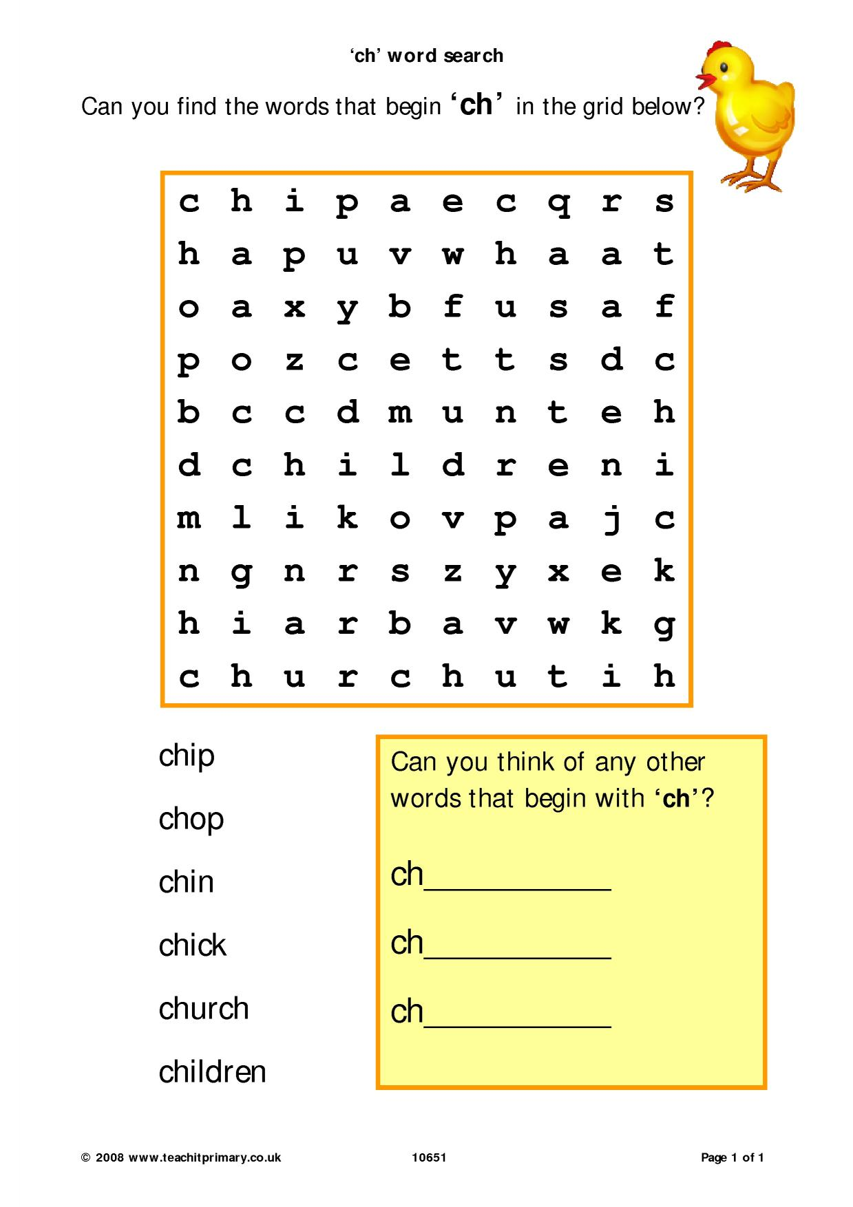 Ch Word Search