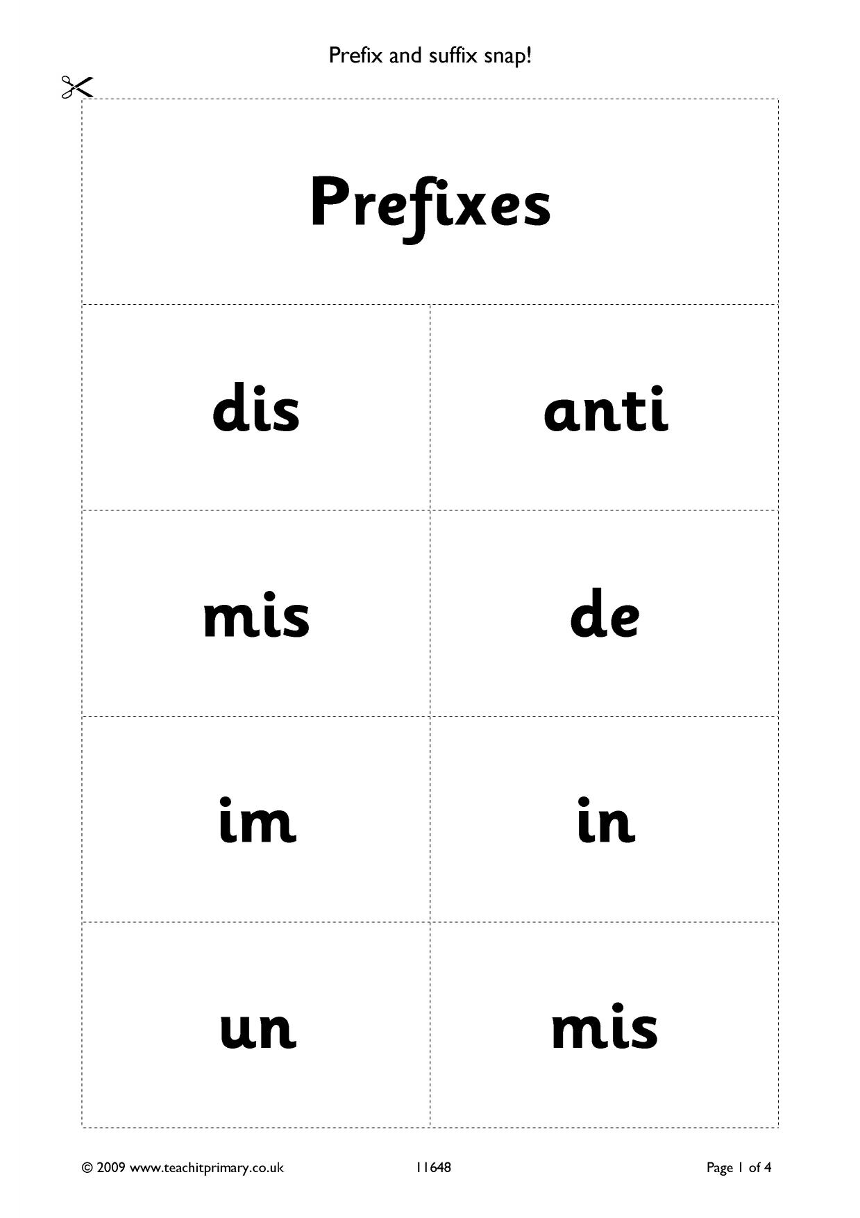 Prefix And Suffix Snap