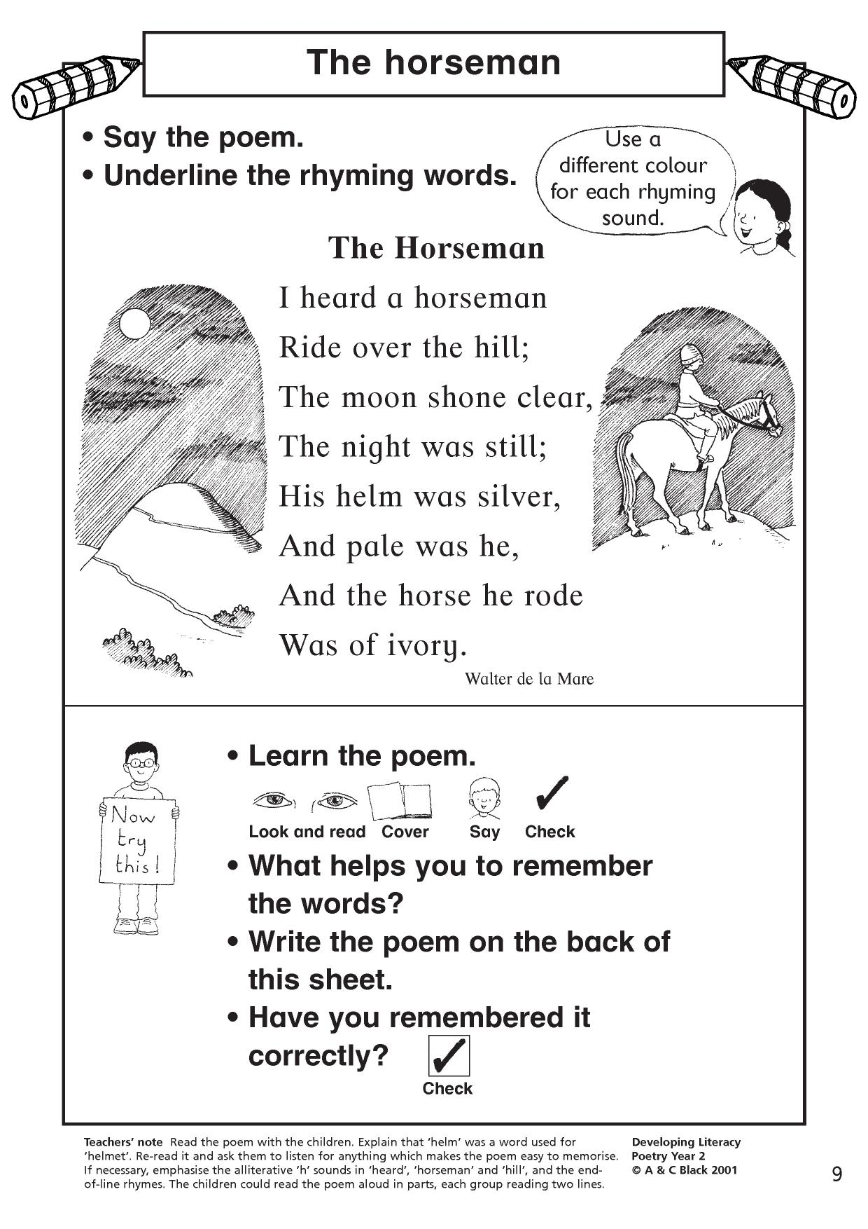 Poetry Writing Activities Ks2 Science