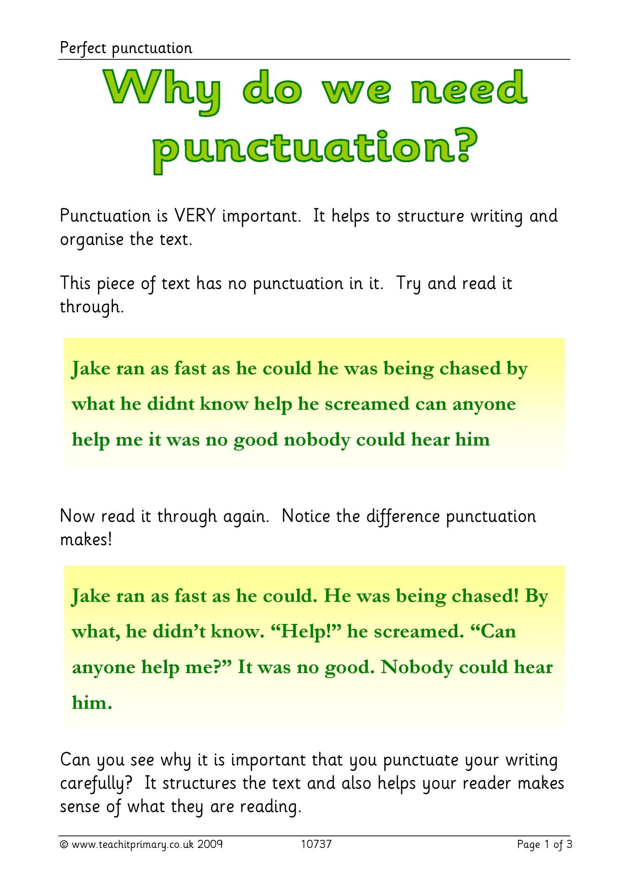 Punctuation Examples