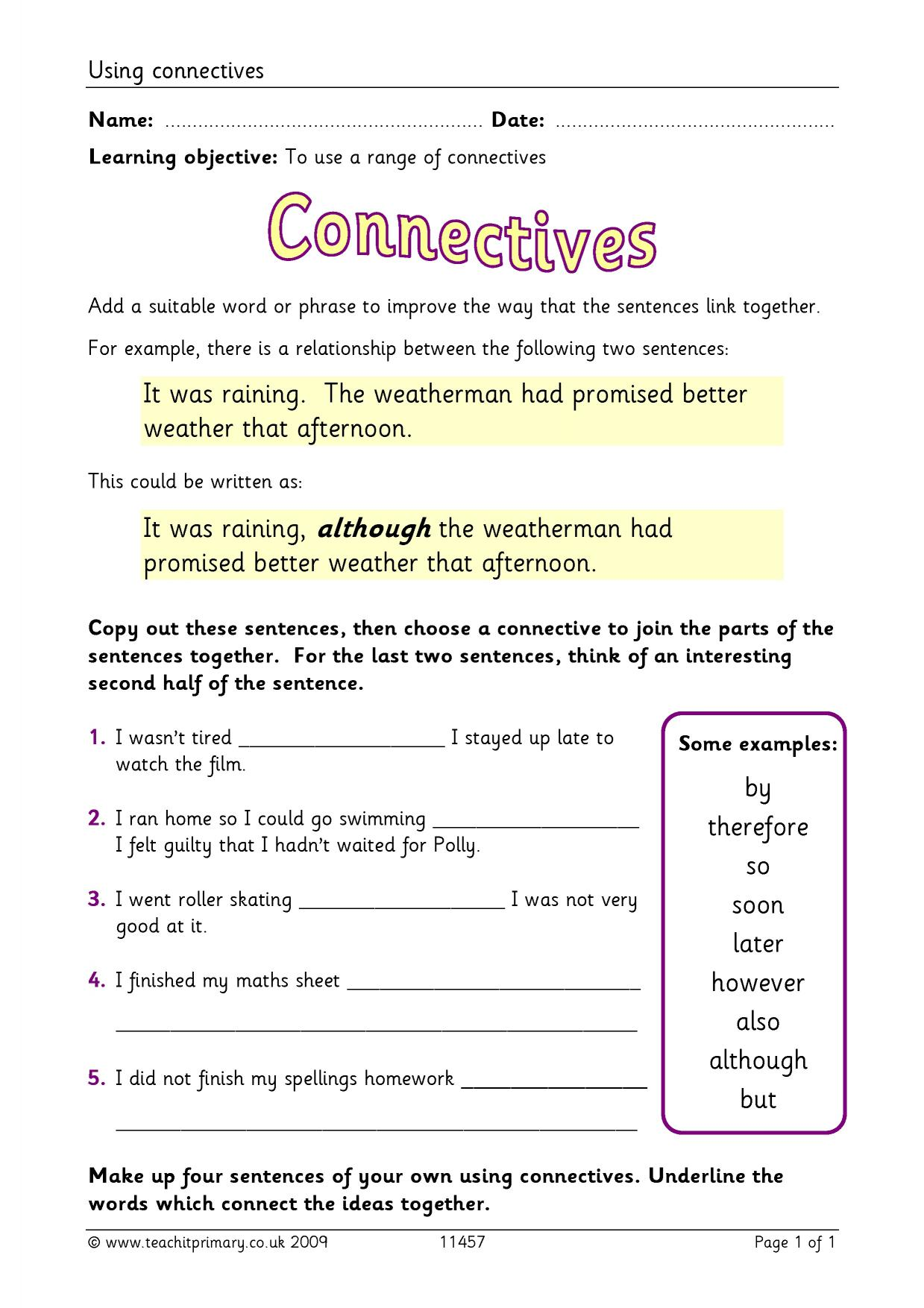 Using Connectives