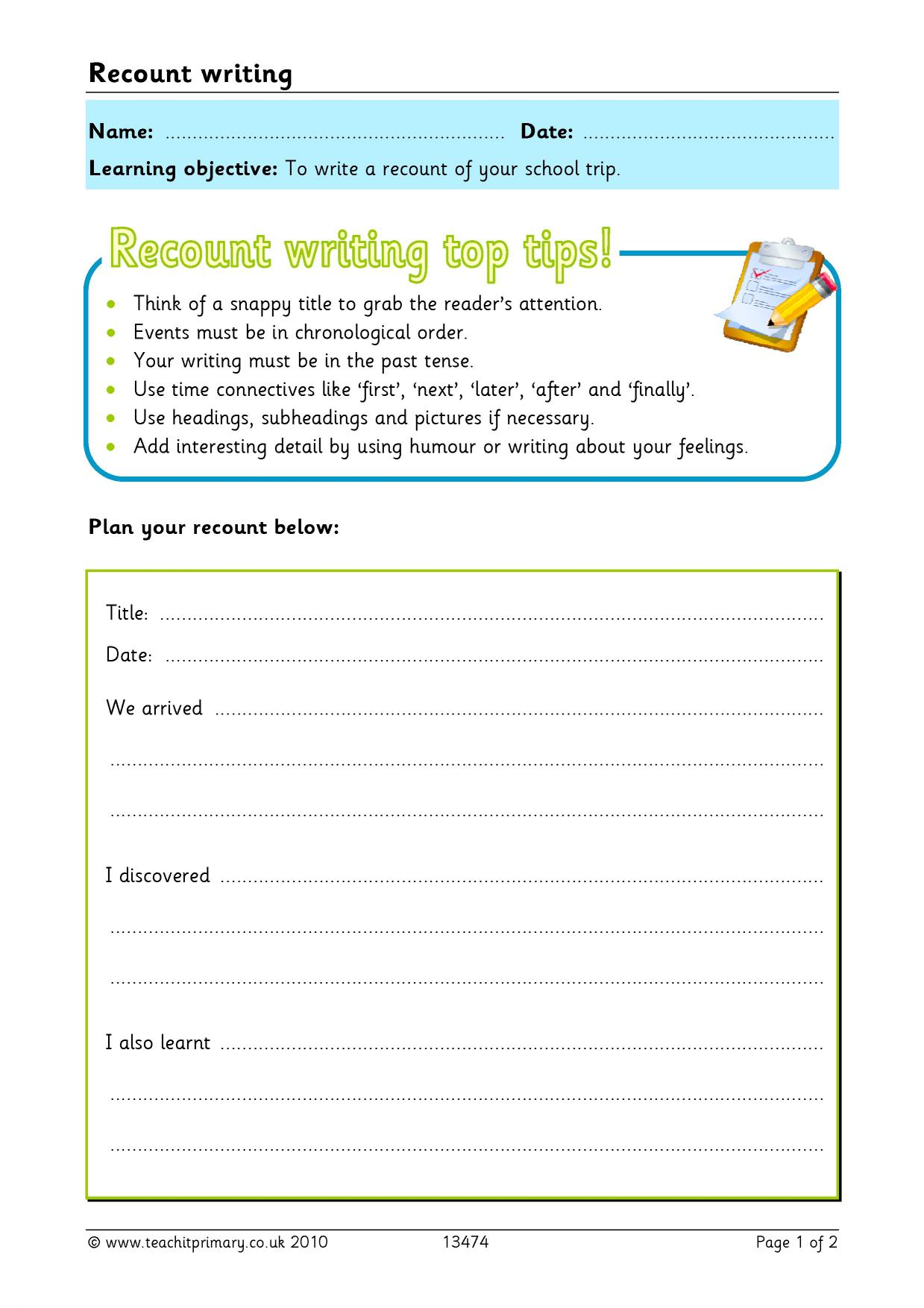 Data Driven Learning For Writing For Research Publication For Students Recount Ks2 Homework