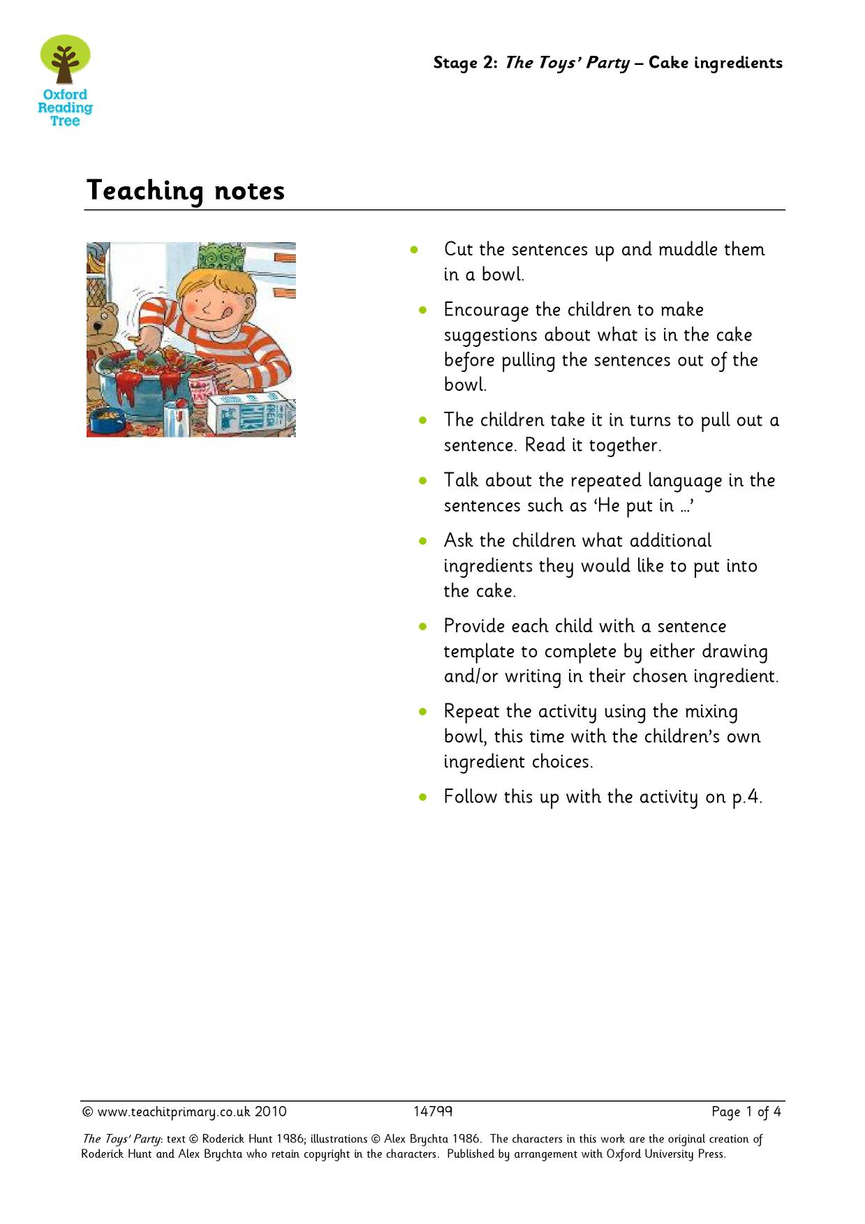 Oxford Reading Tree Free Sample Resources