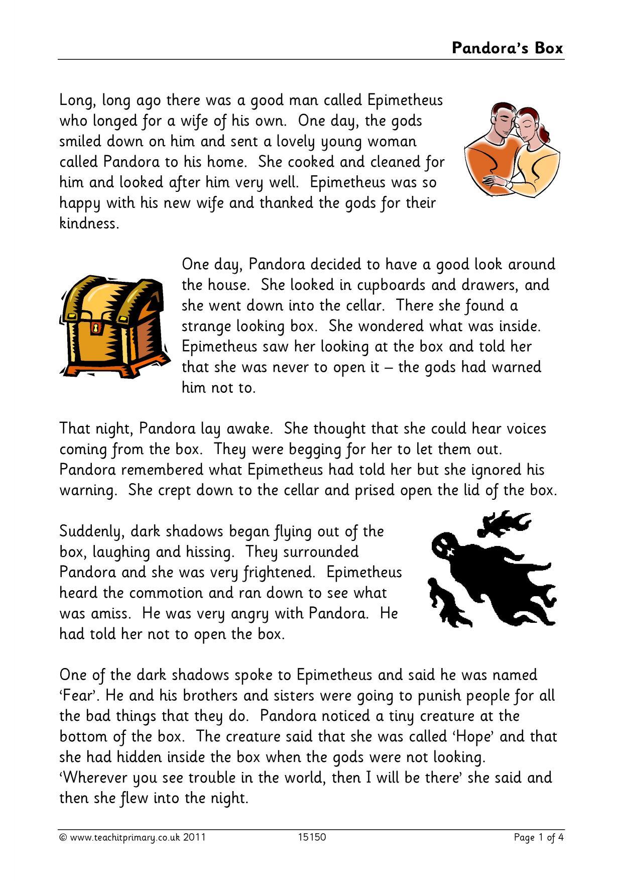 Pandora S Box Activities